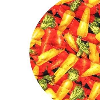دم کني چاپي کشدار 3 تکه رزين تاژ طرح هويج | Rezin Taj 3 Pieces Carrots Printed Elastic Steam Tight