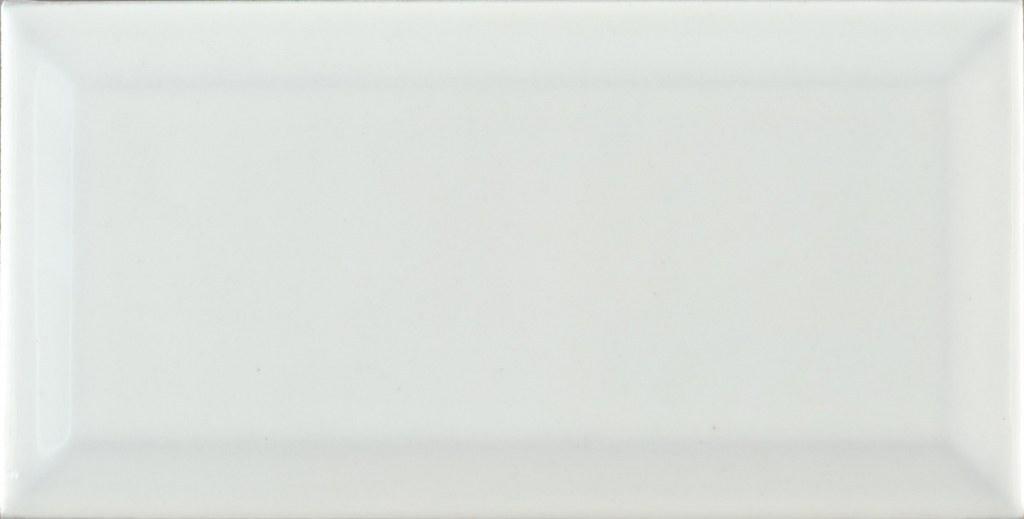 تصویر کاشی فخار طرح روبین سفید ۲۰*۱۰