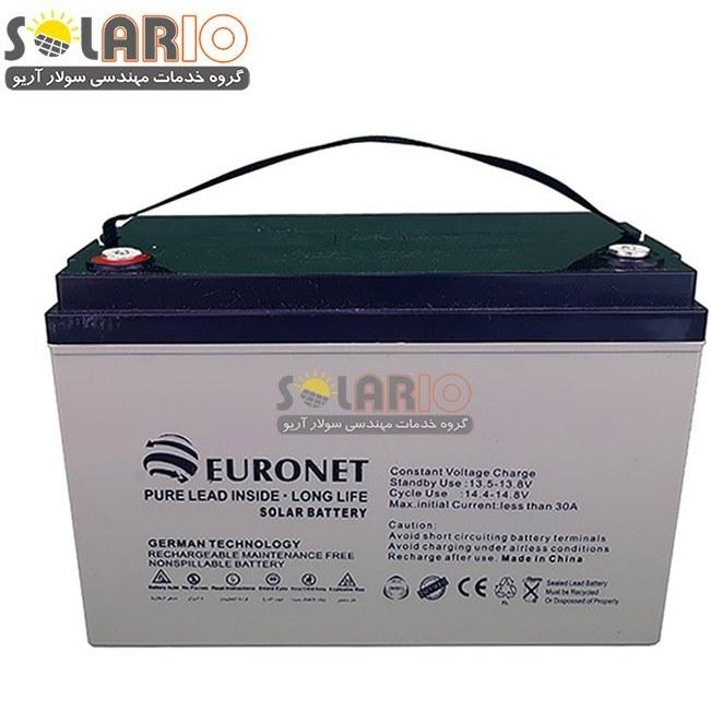 تصویر باطری خورشیدی ۶۵ آمپر ۱۲ ولت دیپ سایکل ژل Euronet