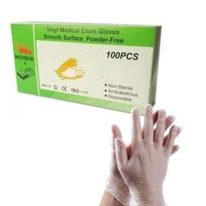 تصویر دستکش بدون پودر ونیل Medibob بستهی ۱۰۰ عددی