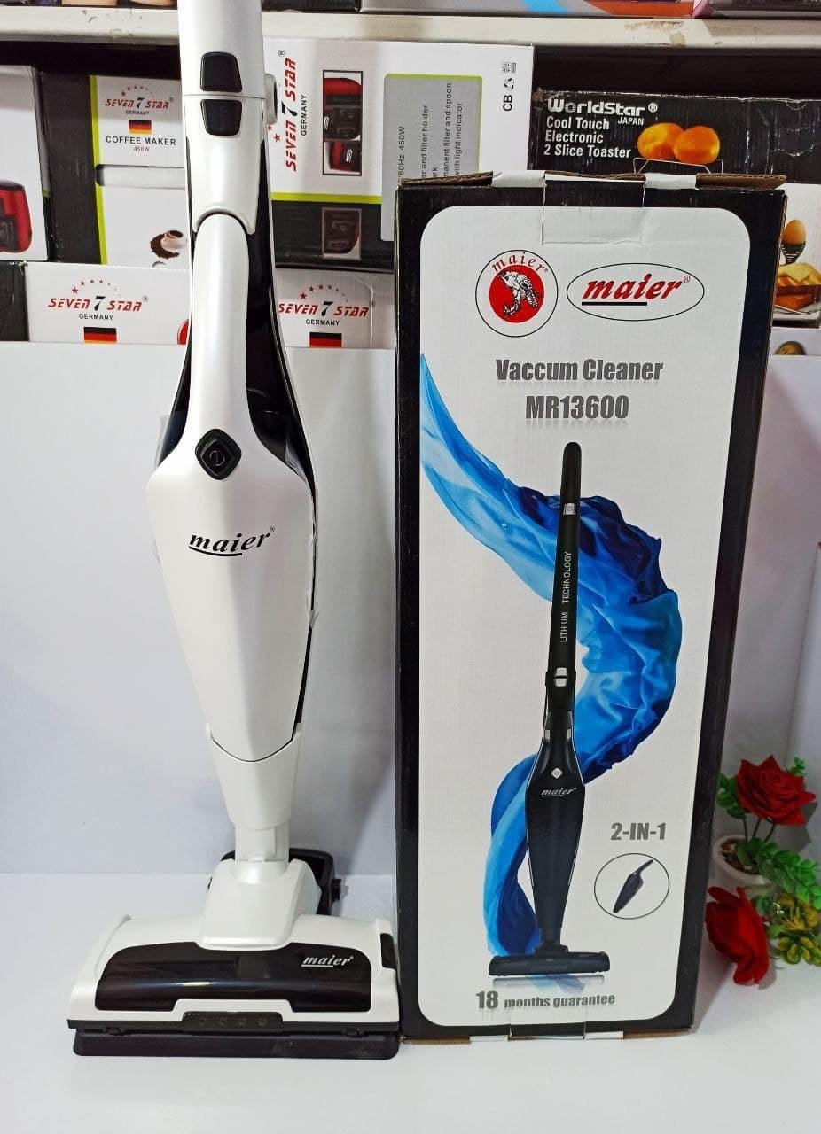 تصویر جارو شارژی مایر سفید مدل MR-13600