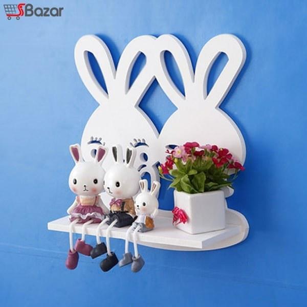 عکس شلف دیواری طرح خرگوش  شلف-دیواری-طرح-خرگوش