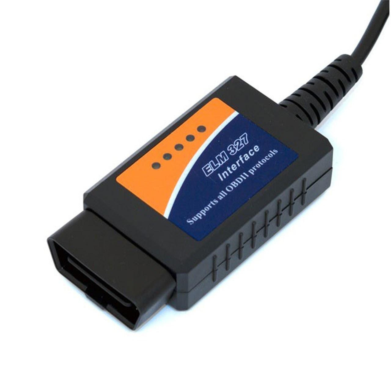تصویر دستگاه دیاگ خودرو با کابل OBDII ELM327 USB