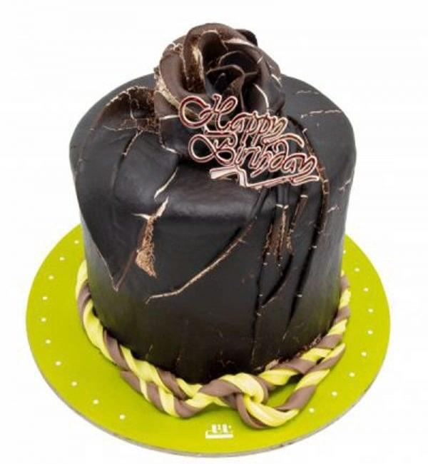 کیک تولد شکلاتی دارک رز |