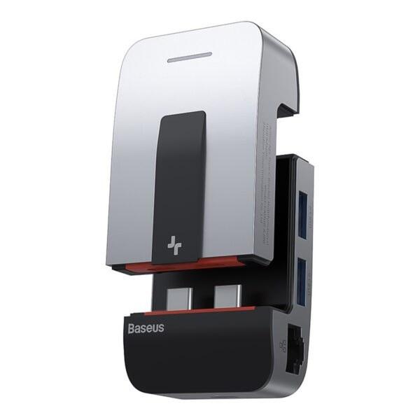 تصویر هاب ۹ پورت USB-C باسئوس مدل CAHUB-AJ0G