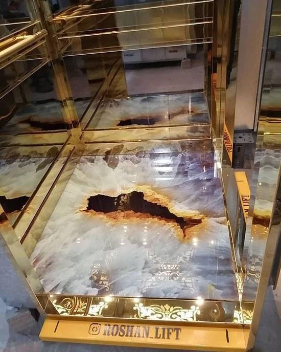 تصویر سنگ مصنوعی انیکس مرمر یخ زده با چاله سه بعدی کد 060 میکانو