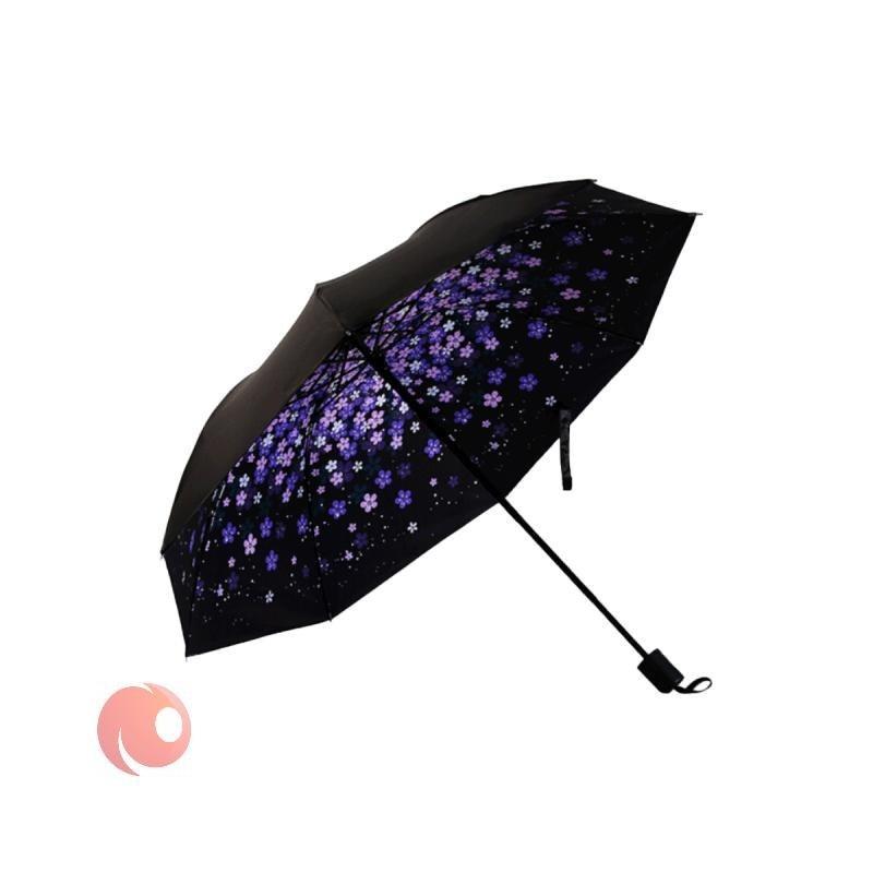 تصویر چتر تاشو Qi Xiaomi طرح گلدار