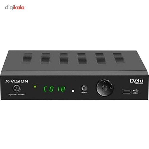 تصویر گیرنده تلویزیون دیجیتال ایکس ویژن ایکس دی وی بی 205 X.VISION XDVB-205 DVB-T