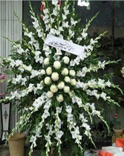 تصویر تاج گل یک طبقه گلایل و کوکب