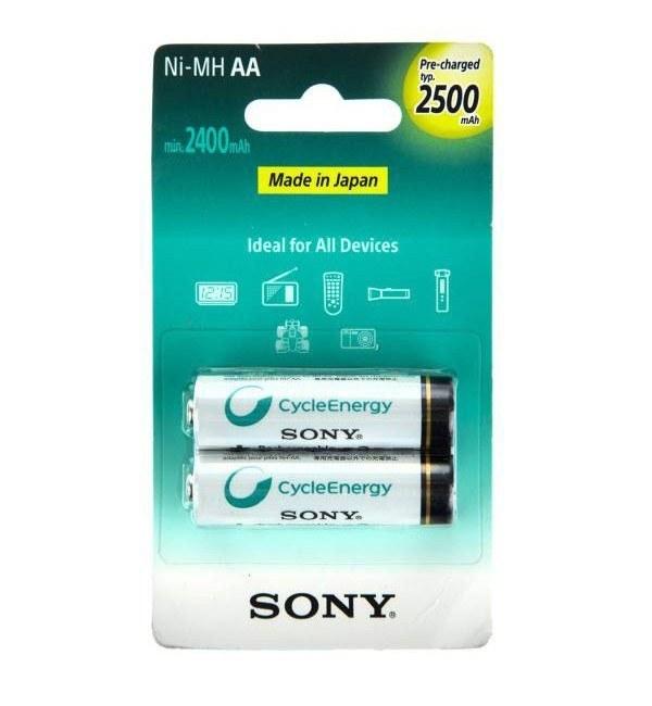 باتری قلمی شارژی سونی مدل NH-AA-B2GN بستهی 2 عددی  