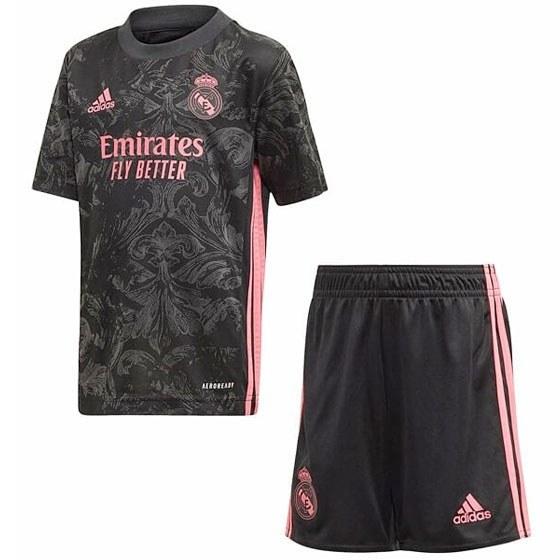 تصویر ست تی شرت و شلوارک ورزشی مردانه طرح رئال مادرید مدل 2021