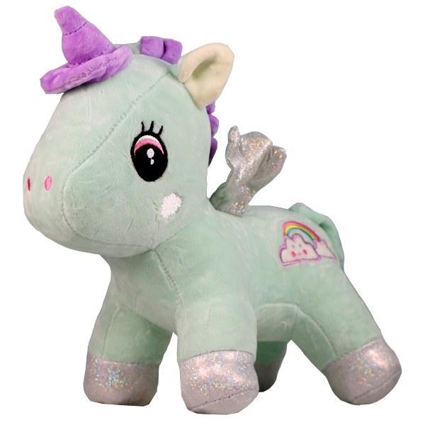 عروسک پولیشی اسب شاخ دار رنگین کمان
