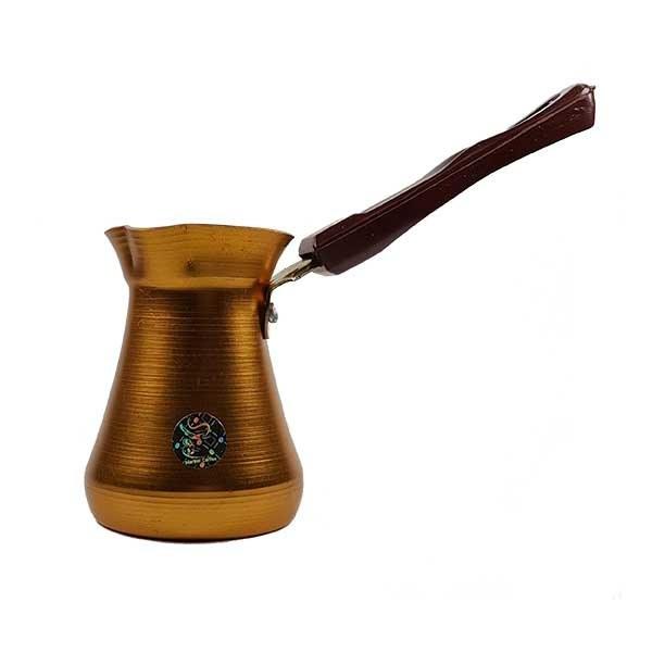 تصویر قهوه جوش آلومینیومی مارتیر طلایی سایز دو کاپ