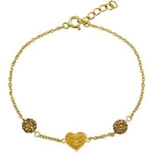 دستبند طلا 18 عیار زنانه مانچو کد bfgs003 |
