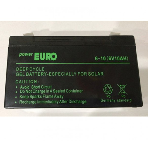 main images باتری 6 ولت 10 آمپر پاوریورو POWER EURO