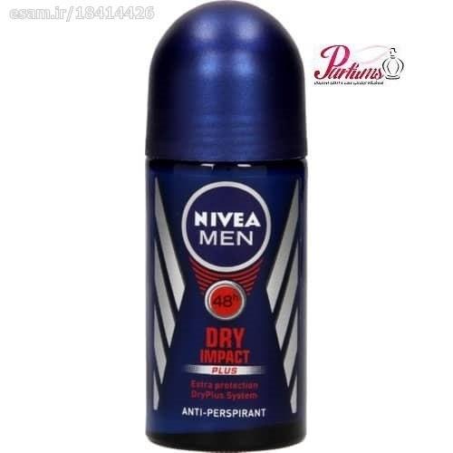 عکس مام رول مردانه نیوآ - Dry Impact Nivea Dry Impact For Men Roll-On Deodorant For Men 50ml مام-رول-مردانه-نیوا-dry-impact