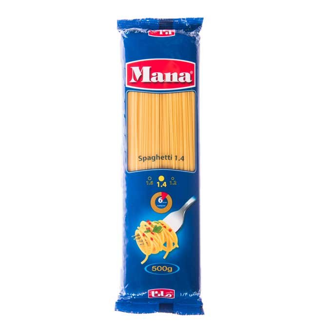 تصویر ماکارونی مانا ۵۰۰ گرمی -