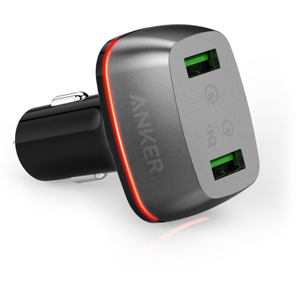 عکس شارژر فندکی انکر مدل PowerDrive+ 2 Anker PowerDrive+ 2 Ports Car Charger شارژر-فندکی-انکر-مدل-powerdrive+-2