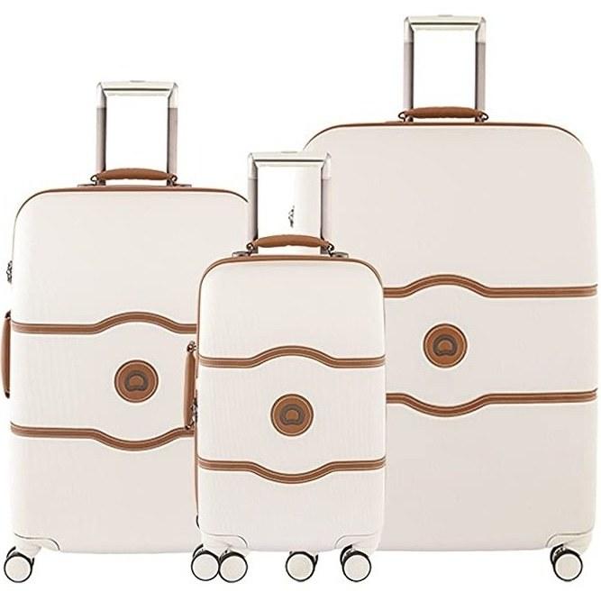 تصویر چمدان سه تیکه دلسی مدل چاتلت ایر