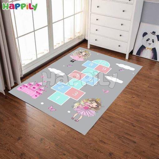 تصویر فرش اتاق کودک طرح لی لی 52320