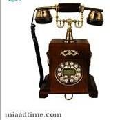 تصویر تلفن رومیزی چوبی مایر مدل K6