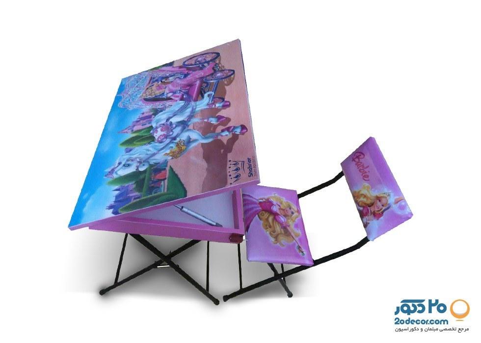 میز و صندلی تحریر عروسکی تولیدی حیدری مدل باربی |