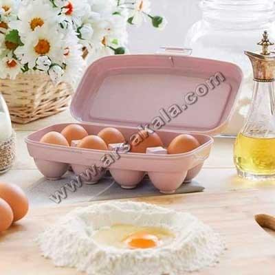 تصویر ظرف نگهدارنده تخممرغ درب دار