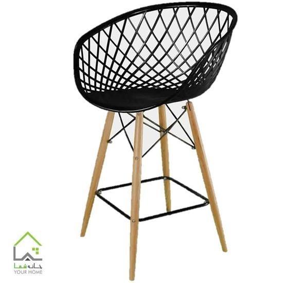 تصویر صندلی اپن پایه چوبی سوپر راش
