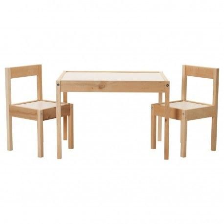تصویر میز و صندلی کودک ایکیا LATT