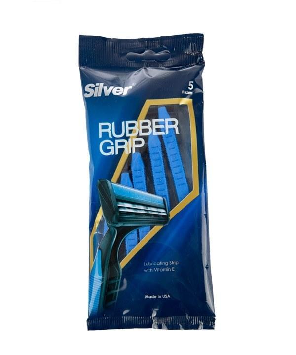 خودتراش سیلور Silver مدل Rubber Grip بسته 5 عددی