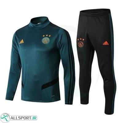 سوئیشرت شلوار پسرانه آژاکس سبز Ajax Training Tracksuit 2020