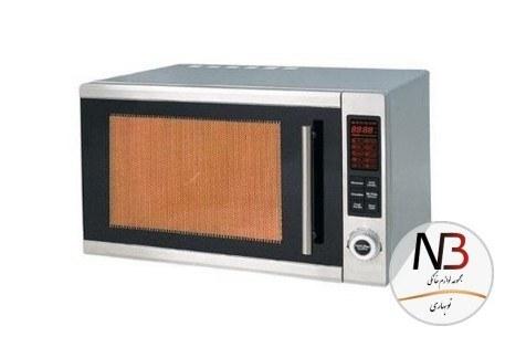 تصویر مایکروویو 30 لیتر نقرهای مایدیا مدل MW-F3042-AMS Midea MW-F3042-AMS Grill Convection NeoChef Microwave Oven