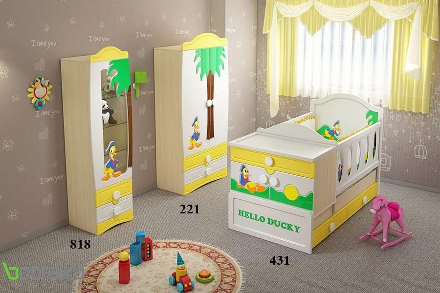 سرویس خواب تک نفره نوزاد نوجوان داکی تراشه Tarasheh 431 Baby Bed