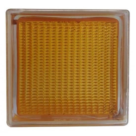 تصویر بلوک شیشه ای کاوه مدل ونیز زرد