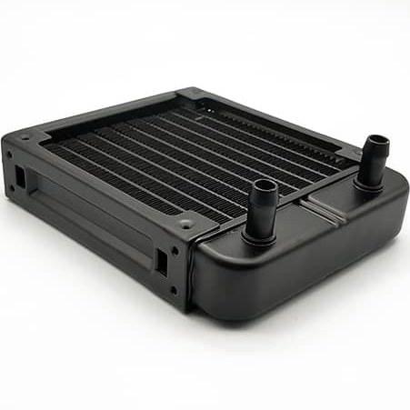 تصویر رادیاتور آلومینیومی کوچک 158x120x30 میلیمتر water cooling radiator 12x12cm