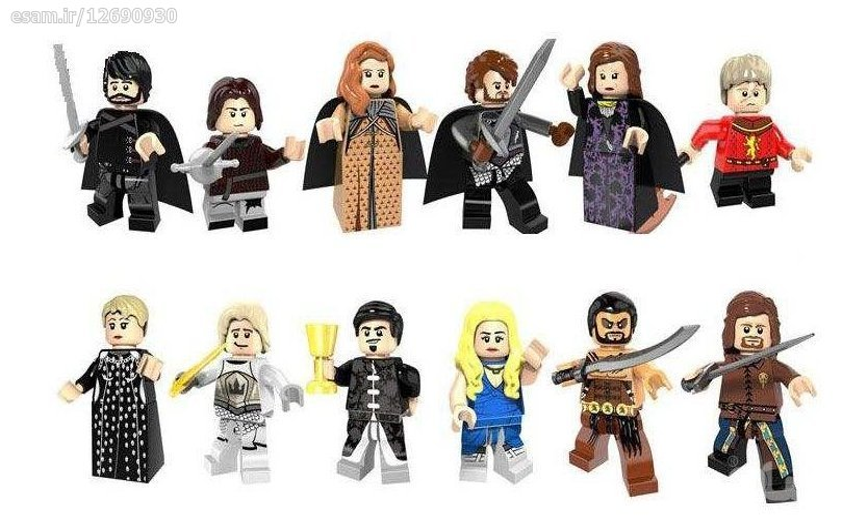 دوازده عدد آدمک لگو سریال Game Of Thrones  