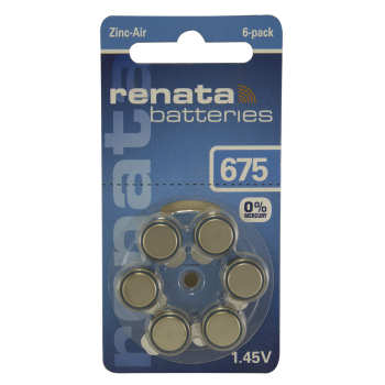 عکس باتری سمعک رناتا مدل 675 بسته 6 عددی  باتری-سمعک-رناتا-مدل-675-بسته-6-عددی