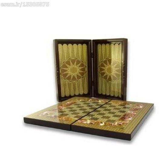 تخته نرد و شطرنج طرح خاتم کاری |