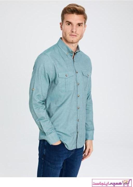 تصویر حرید اینترنتی پیراهن مردانه ارزان برند ال سی وایکیکی LC Waikiki رنگ نقره ای کد ty32745317