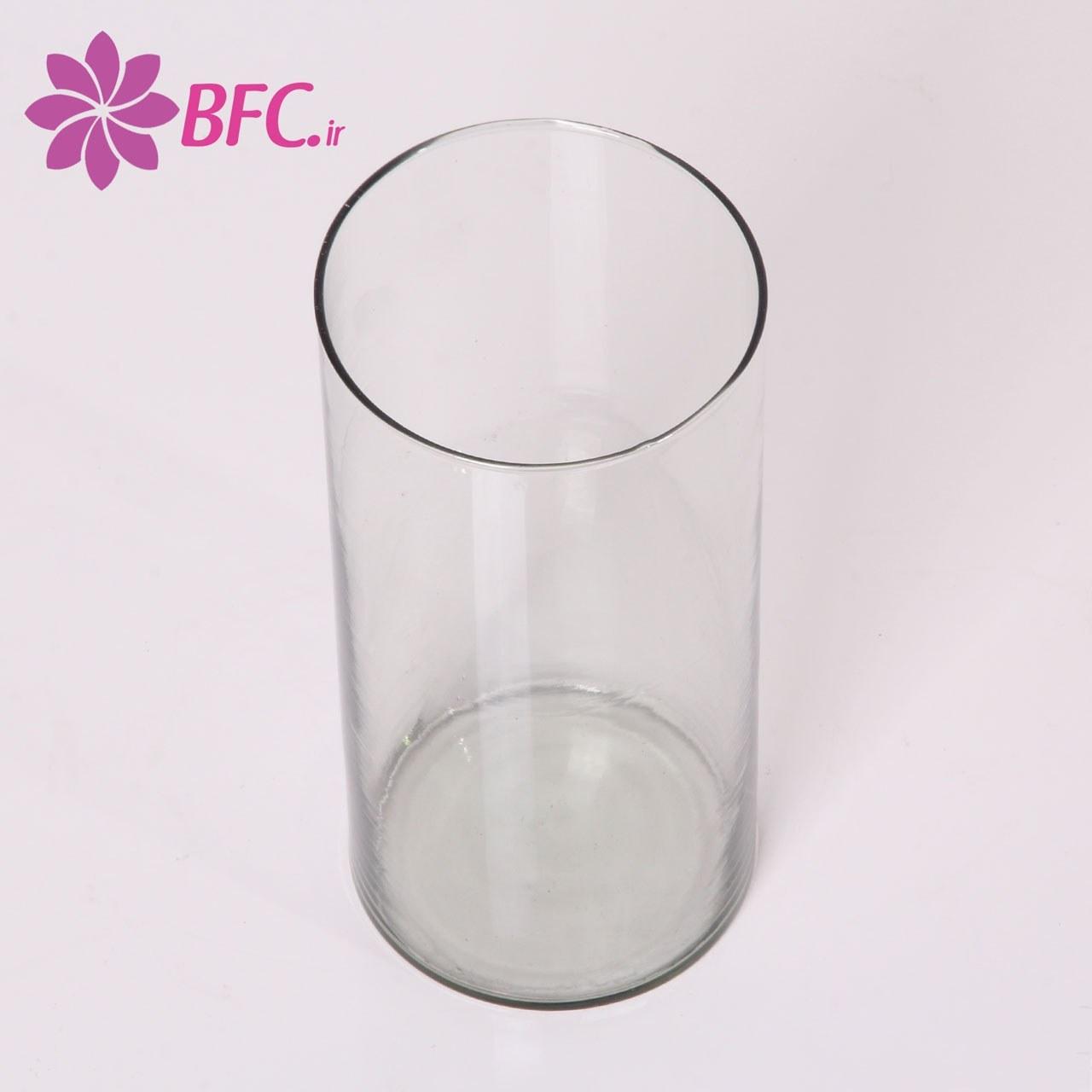 گلدان گل شیشه ای استوانه ای سایز متوسط