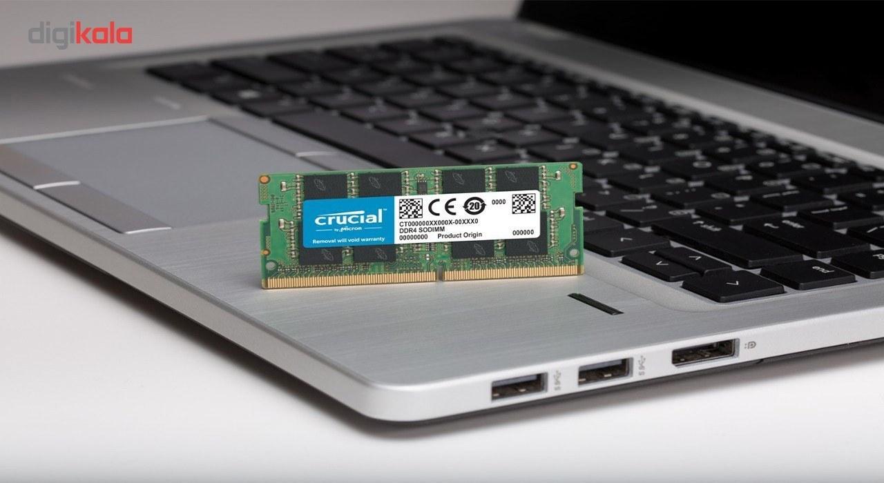 img رم لپ تاپ کروشیال مدل DDR4 2400MHz ظرفیت 8 گیگابایت Crucial DDR4 2400MHz SODIMM RAM - 8GB