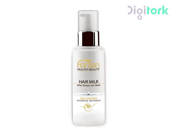 تصویر شير ترمیم کننده موهای آسیب دیده فاربن حجم 100 میل Farben Repairing Hair Milk 100ml