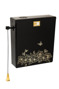 تصویر فلاش تانک دوزمانه دیاموند مشکی با طرح نیلوفر طلایی