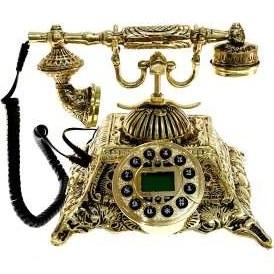 تصویر تلفن برنزی مدل چهارگوش