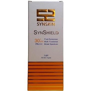 فلوئید ضدآفتاب ساین شیلد بژ روشن SPF30 ساین اسکین مناسب انواع پوست 40 گرم