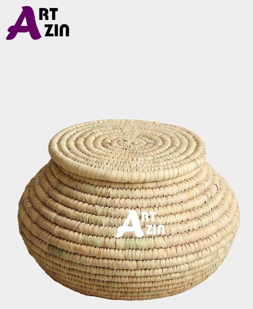 تصویر خمره جا برنجی شیک سطل برنج حصیری  13 کیلویی-  کد: 251