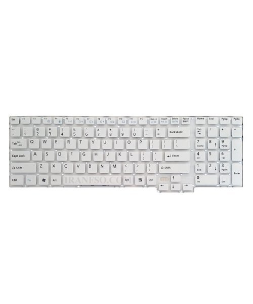 تصویر کیبرد لپ تاپ فوجیتسو Lifebook AH532 سفید-اینترکوچک بدون فریم
