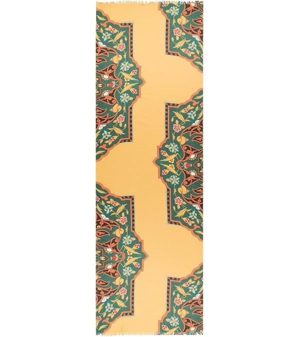 شال نخی سنتی زرد وستای Vestay