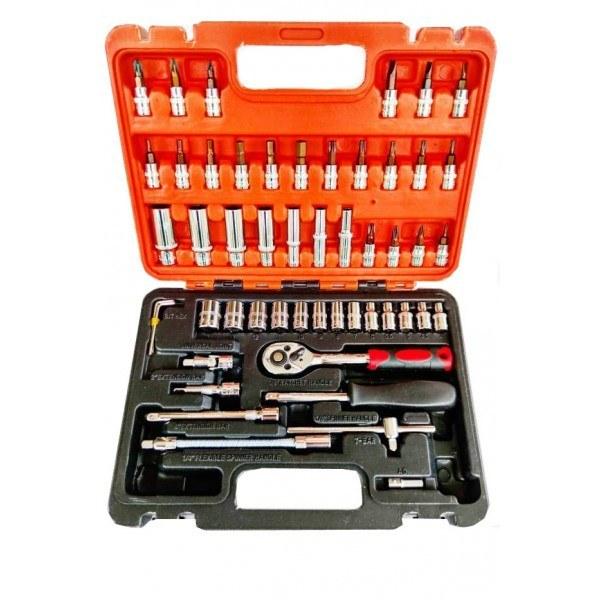 تصویر جعبه بکس و ابزار 53 پارچه درایو 1/4 برند CRV TAT