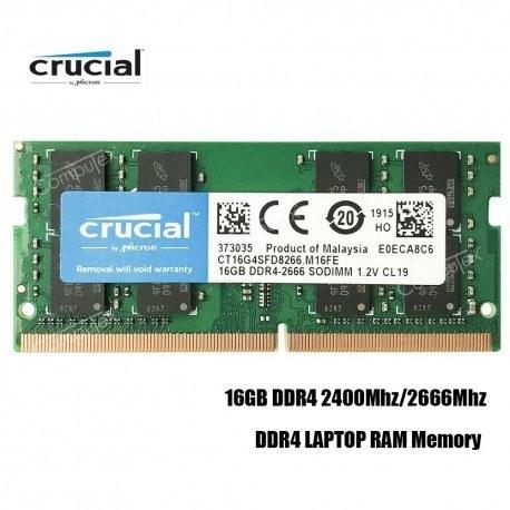 رم لپ تاپ 16 گیگابایت کروشیال Crucial Laptop Ram 16GB DDR4 2666